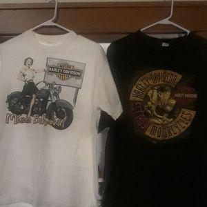 Lot of(2) Harley Davidson T-shirts